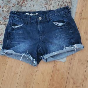 Madewell denim cut off shorts